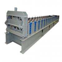 22KW Gearbox Drive Metal Deck Roll Forming Machine With 5T Hydraulic Uncoiler Manufactures