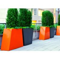 Trapezoid Couple Tall Stainless Steel Planters For Outdoor Decoration Manufactures
