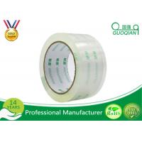 Crystal Clear Bopp Printed Parcel Tape , Quiet Packing Tape With Pressure Sensitive Manufactures