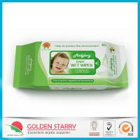 Fragrance Biodegradable Baby Wet Wipes 80 Sheets with Flip Lid Manufactures