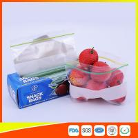 LDPE Transparent Resealable Press Zip Snack Ziplock Bags Air Proof For Packaging Manufactures