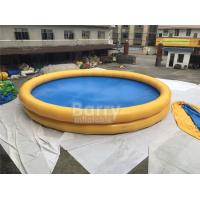 China Round Baby Kids Safety Inflatable Swimming Pool With Logo Printing on sale