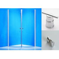 Clear Glass Pivot Shower Enclosure 800 X 900 Round Corner Shower Stalls Manufactures