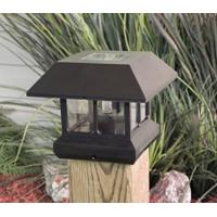 Waterproof  Green Solar Post Cap Lights 4x4 , Solar Powered Lamp Post Lights Manufactures