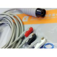 Generic AAMI 6 Pin One Piece ECG Patient Cable 3 Leads For Patient Monitoring Equipment Manufactures