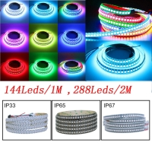 SMD5050 RGB 140 Degree 12mm Coloured LED Strip Lights Manufactures