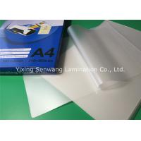 250micron 10mil  Pouch Laminating Film Glossy Lamination For Office Files Manufactures