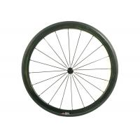 Quality 23MM Width 700C Carbon Road Bike Wheels 45MM Clincher Shiny / Matte Finishing for sale