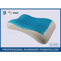 Therapeutic Memory Foam Cooling Gel Pillow with Soft Cover , Cooling Gel Bed Pillow Manufactures
