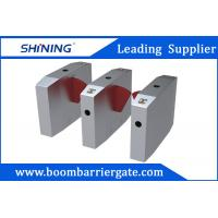 Waist Height Flap Barrier Gate , Turnstile Access Control With Bar Code Scanner Manufactures