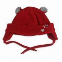 Baby Winter Hat with Ear Flaps, Made of Microfiber Fleece Fabric Manufactures