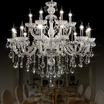 Affordable crystal chandelier lighting Transparent Color (WH-CY-08) Manufactures
