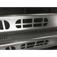 Brush Anodized aluminum extruded shapes / Aluminum Extrusion Profiles for Electronics Manufactures
