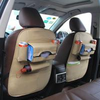 PU material hot sell special design black car seat back organizer Manufactures
