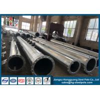 China OEM Hot Dip Galvanised Steel Pole For Electrical Power Transformer Substation on sale