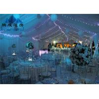 Big 20x30M Waterproof Outside Party Tents , Zinc Powder Coated Steel Canopy Wedding Tent Manufactures