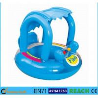 China UPF 50+ Inflatable Pool Floats Reinforced Safety Baby Float With Canopy on sale