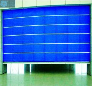 Blue 1.2mm Curtain 0.25KW Fireproof Garage Door Manufactures