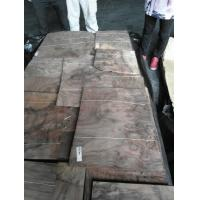 China Sliced Natural Walnut Burl Wood Veneer Sheet on sale