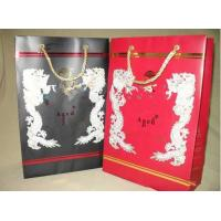 Customized Black / Red 157gsm Mini Paper Gift Bag With Personsized Pattern Manufactures