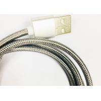 Quality 3 in 1 Metalize fiber braid charging cable micro / lightning / type-c for sale