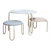 MDF Top Assemble 40kg Childrens Table And Chairs Set Manufactures