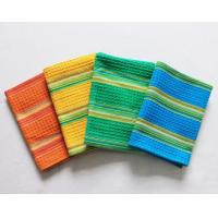 100% Cotton Waffle Hanging Dish Towels Bamboo Fiber With Good Shrink Resistance Manufactures