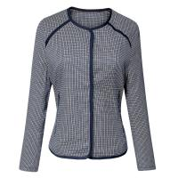 Autumn / Spring Geometrical Jacquard Warm Womens Jackets For Girls Manufactures