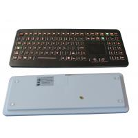 Professional IP68 Medical Backlit Keyboard with Flat Keys and Sealed Touchpad Manufactures