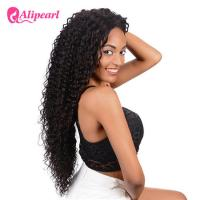 Long Human Hair Curly Lace Front Wigs Deep Wave For Black Women Manufactures