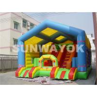 Giant Colourful  Inflatable Obstacle Course For Adults , safety Slide Bouncy House Manufactures