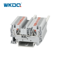JPT 4 Low Voltage Spring Din Rail Push In Terminal Block Installation Without Tool Manufactures