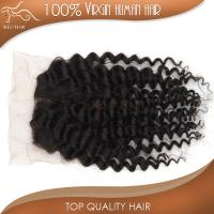 China Top lace closure hair virgin brrazilian hair deep curly expression braiding hair extension on sale