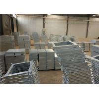 Waste Treatment Plant Compound Steel Grating Surface Glossy With Fish Tail Manufactures