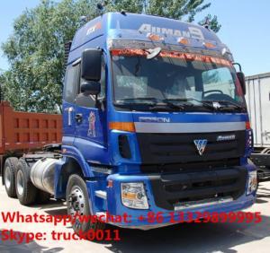 Quality best seller-FOTON AUMAN 6*4 340hp diesel semitrailer tractor head for sale, hot sale FOTON heavy duty tractor head for sale