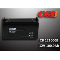 Sealed CB121000B 12V 100Ah Rechargeable Lead Acid Battery Power Back up Application Manufactures
