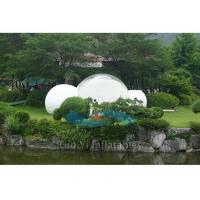 Quality Clear Outdoor Inflatable Dome Tent / Camping Tent With One Room One Tunnel for sale