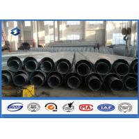 Dodecagonal Galvanized Electrical Power Transmission Pole 20M Height ISO9001:2008 Manufactures