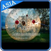 2.5m Children Human Hamaster Inflatable Zorb Ball , Grass Roller Ball for sale