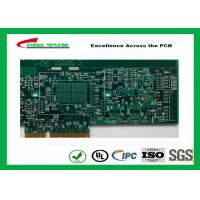 Printed Circuit Board Double Sided PCB 6 Layer Lead Free HASL + Gold Finger Manufactures