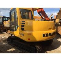 Tonnage 6 ton Japan origin bucket 0.28m3 used Komatsu crawler midi excavator PC60-7 Manufactures