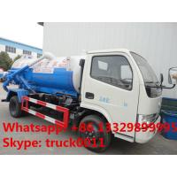 hot sale dongfeng 4*2 LHD/RHD 3000Liters vacuum sludge truck,best price CLW brand sewage suction truck for sale Manufactures