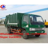 Quality Factory sale good price FAW brand 4*2 LHD 5m3 garbage compactor truck, HOT SALE! for sale