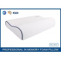 Quality Customized Embroidery Logo Tencel Fabric Contour Memory Foam Pillow With Piping for sale