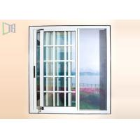 Dust Proof Aluminium Sliding Windows Grill Design With Stainless Steel Insect Screen Manufactures