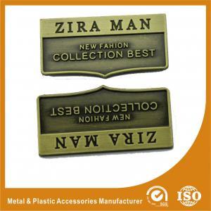 Antique Brass Metal Logo Plate Handbag Accessories Engraved Logo Manufactures