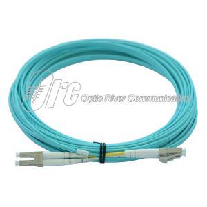 China Aqua 2.0mm OM3 LC UPC Fiber Optic Patch Cord 850nm on sale
