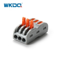 3 pin Push In Wire Connectors 222-423 Type electrical terminal block Manufactures
