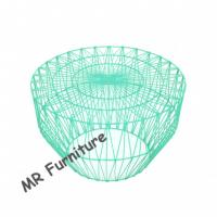 Turquoise Wire Mesh Bar Stools , Wire Stool Side Table For Restaurant / Cafe Manufactures