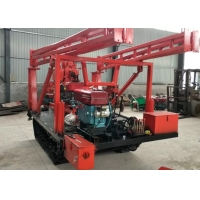 High Efficiency Hydraulic Crawler Drilling Rig / 100m Depth Small Water Well Drilling Rig Manufactures